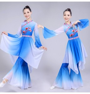 traditional chinese folk dance costume for woman Fairy drama cpsplay dance costumes kids costume yangko women yangge clothing ancient