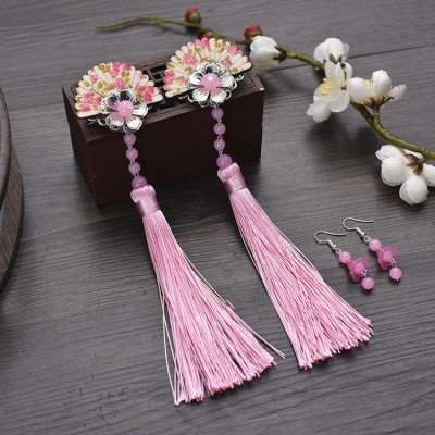 vintage fairy hanfu hair flower  headdress for women chinese ancient dynasty hair accessories ancient hair clip princess cosplay hair clip