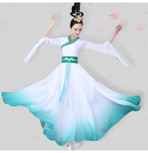 White fairy chinese folk dance costumes for women female princess traditional hanfu drama anime photos cosplay dresses