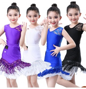 wholesale Girls latin dance dresses children stage performance latin dance skirts costumes dress