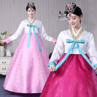 women Korean traditional hanbok costumes  female stage performance korean drama cosplay court dress