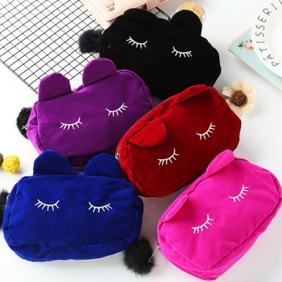 Women 's stage performance cosmetic storage cute cat bag wallet purse clutch bag