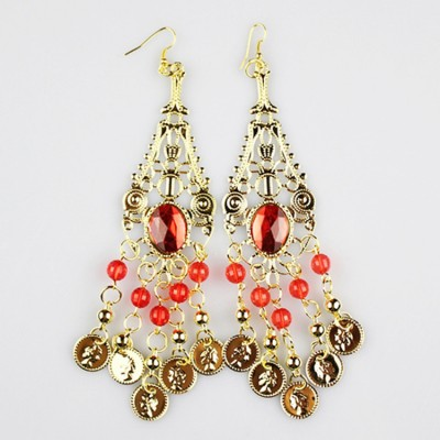 Women's adult indian queen belly dance earrings