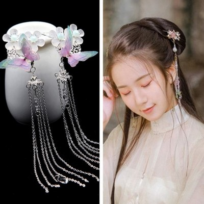 Women's chinese ancient folk dance hairpin fairy princess hanfu drama cosplay hair acessories