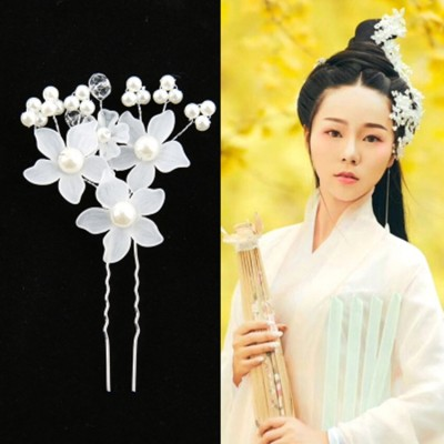 Women's Chinese ancient hanfu traditional dance hair accessories fairy princess empress drama cosplay hairpin hair clip