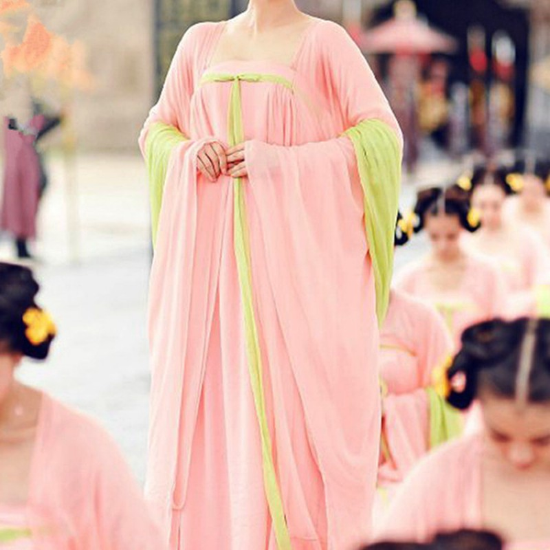 Women's Chinese folk dance costumes ancient traditional classical hanfu tang dynasty princess dresses fairy kimono drama cosplay robe dress