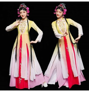Women's chinese folk dance costumes hanfu pecking opera drama film traditional  movies cosplay dresses costumes