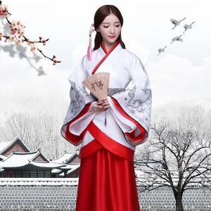 Women's Chinese folk dance dress for female girls photography ancient classical traditional hanfu fairy drama anime cosplay robes kimono dresses