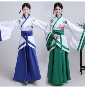Women's chinese folk dance hanfu traditional ancient fairy princess Japanese korean kimono photos Halloween party cosplay dresses robes