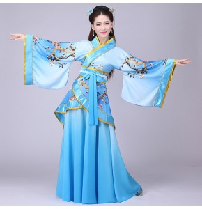 Women's Chinese traditional ancient dance costumes for female  hanfu classical stage performance drama fairy princess cosplay robes dresses