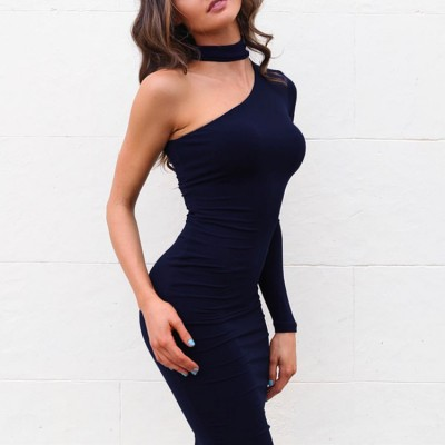 Women's fashion sexy night club evening dresses robe de soirée