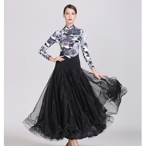 Women's flamenco ballroom dresses stage performance competition waltz tango dance skirts dress