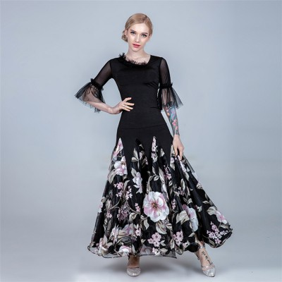 Women's flamenco ballroom waltz tango dancing dresses costumes dance wear tops and skirts