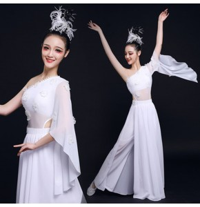 Women's girls chinese folk dance dresses fairy umbrella classical dance dresses stage performance princess drama cosplay photos dress