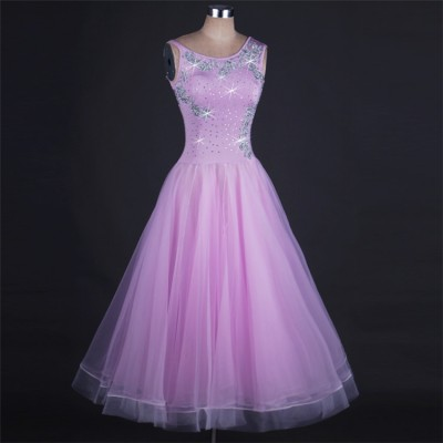 Women's girls competition ballroom dancing dresses girls female red black royal blue pink waltz tango ballroom dance dresses