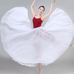 Women's girls modern dance ballet dance skirts 720degree skirt hem flamenco dance skirts