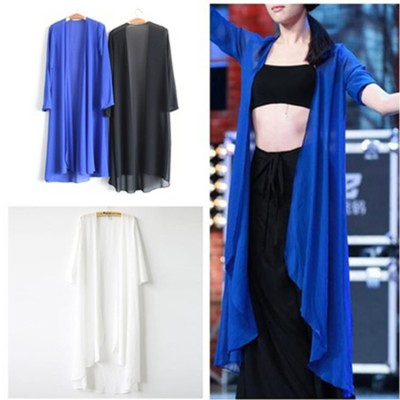 Women's girls modern dance  tops  chiffon ballet fitness sports yoga  stage performance cardigans