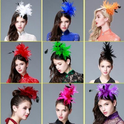 Women's kids children modern dance feather hair accessories jazz singers stage show performance headdress