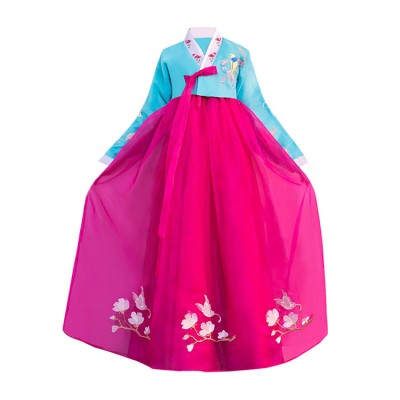 Women's Korean hanbok traditional dance performance show photos drama cosplay  competition long dresses robes