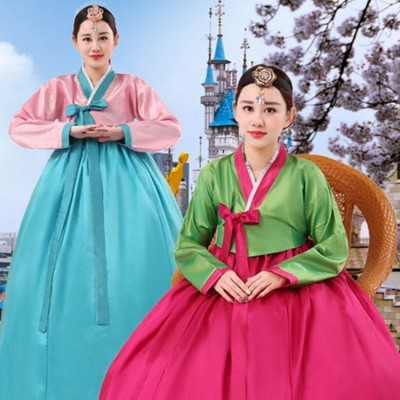 Women's Korean traditional hanbok dress stage performance drama photography cosplay kimono dress costumes