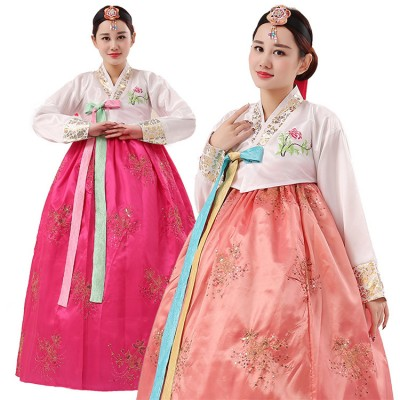 Women's Korean traditional hanbok dresses oriental palace wedding photos drama cosplay costumes dress