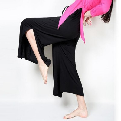 Women's modal yoga pants modern dance exercises fitness sports performance dancing wide leg trousers