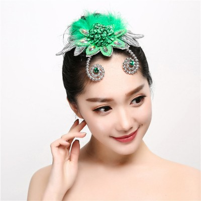 Women's  modern dance headdress jazz singers chorus ballroom dance  hair acessories head flowers