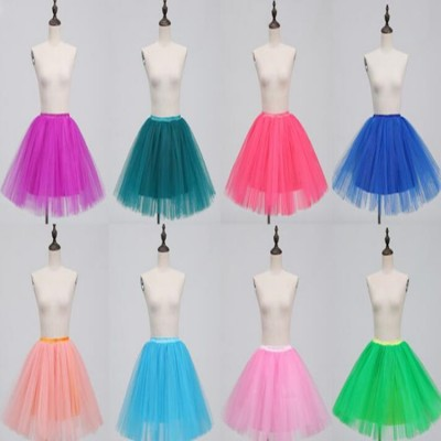 Women's modern dance jazz singers host stage performance mini pettiskirt skirts multi colored show photography drama cosplay skirt