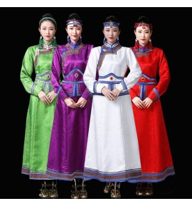 Women's Mongolian dance dresses Mongolia drama ethnic minority performance robes