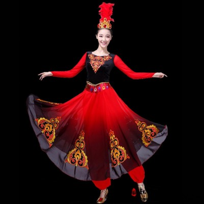 Women's xinjiang uyghur minority stage performance dress stage performance drama cosplay dress